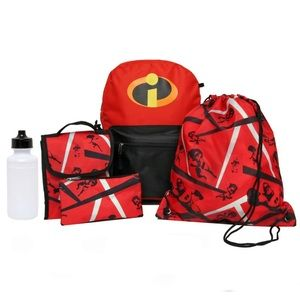 Other - The Incredibles 2  5 Piece Backpack Set